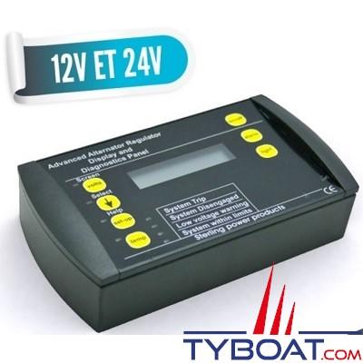 Sterling Power - Panneau de contrôle pour chargeurs d'alternateur 12 volts -160 / 210 ampères et 24 volts -100 ampères