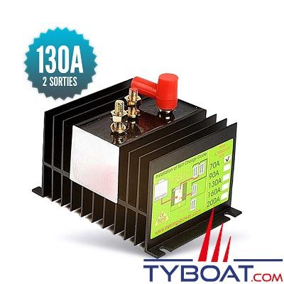 Sterling power - Répartiteur à diodes 1 entrée 2 sorties - 130 ampères