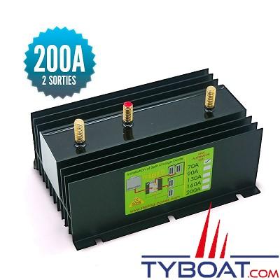 Sterling power - Répartiteur à diodes 1 entrée 2 sorties - 200 ampères