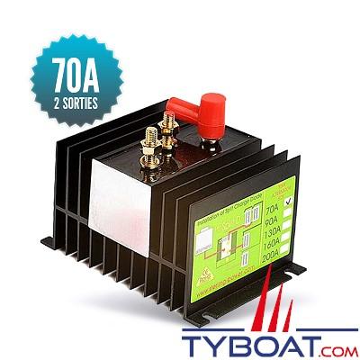 Sterling power - Répartiteur à diodes 1 entrée 2 sorties - 70 ampères