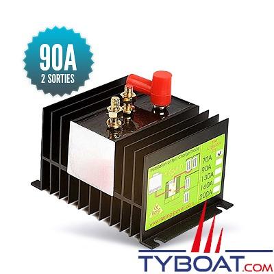 Sterling power - Répartiteur à diodes 1 entrée 2 sorties - 90 ampères