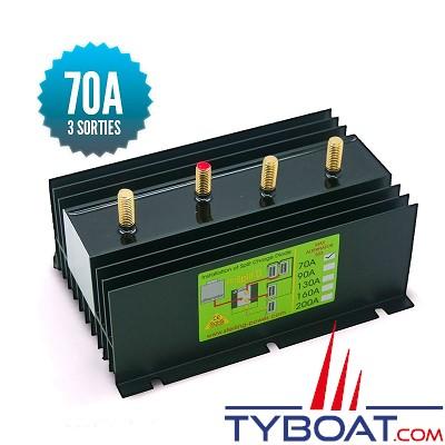 Sterling power - Répartiteur à diodes 1 entrée 3 sorties - 70 ampères