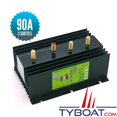Sterling power - Répartiteur à diodes 1 entrée 3 sorties - 90 ampères