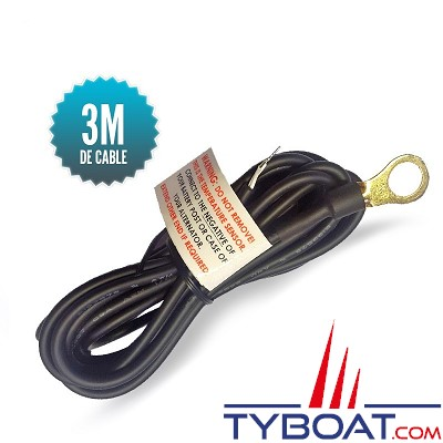 Sterling Power - Sonde de température pour chargeur d'alternateur câble 3 mètres cosse 10mm
