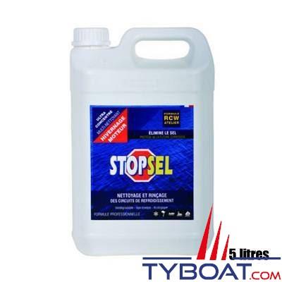 STOPSEL - Liquide de nettoyage et de rinçage des circuits de refroidissement STOPSEL CRW Hivernage 5 litre