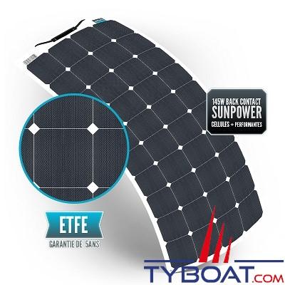 Sunpower - Kit panneau solaire souple 145 watts - 12 volts - Régulateur MPPT