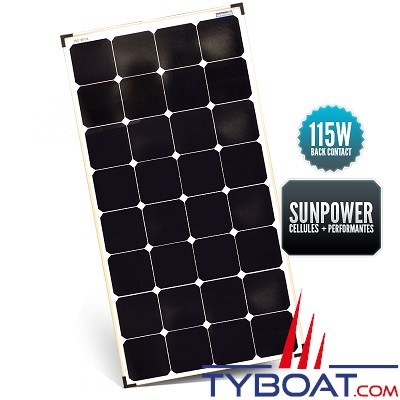 Sunpower - Panneau rigide back contact 115 watts 540*1060*35 mm