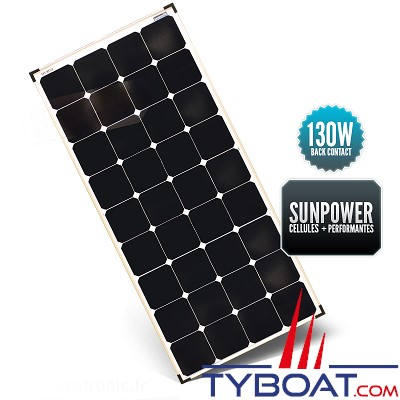 Sunpower - Panneau rigide back contact 130 watts 540*1190*35 mm