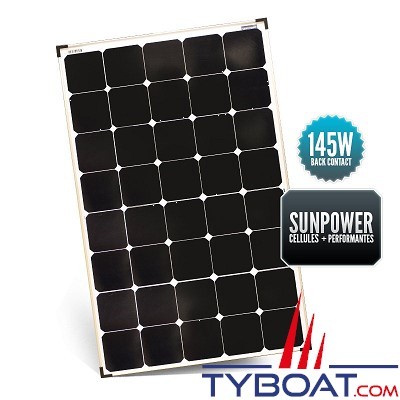 Sunpower - Panneau rigide back contact 145 watts 670*1060*35 mm