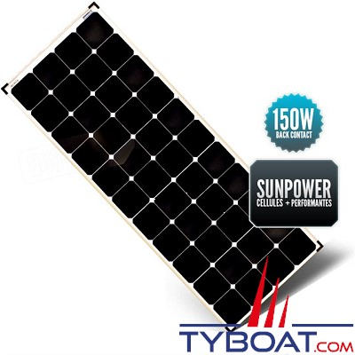 Sunpower - Panneau rigide back contact 160 watts 540*1440*35 mm