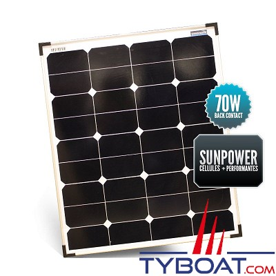 Sunpower - Panneau rigide back contact 70 watts 540*705*30 mm