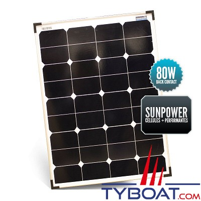 Sunpower - Panneau rigide back contact 80 watts 540*835*30 mm
