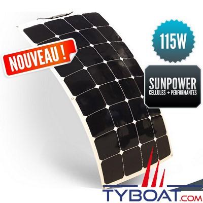 SUNPOWER - Panneau solaire souple 12 Volts 115 Watts - Back Contact - 540 x 1070 x 3 mm