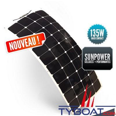 SUNPOWER - Panneau solaire souple 12 Volts 135 Watts - Back Contact - 540 x 1330 x 3 mm