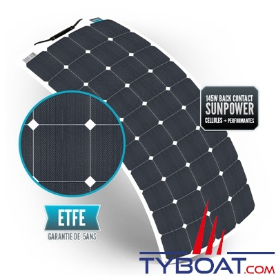 Sunpower - Panneau souple back contact 145 watts 540*1330*3 mm - 12 Volts