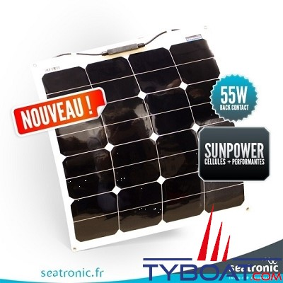 Sunpower - Panneau souple back contact 55 watts 540*580*3 mm - 12 Volts