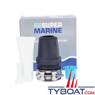 Super Marine - Joint étanche pour arbre Ø 30mm et tube étambot Ø 48 mm - sans prise d'eau