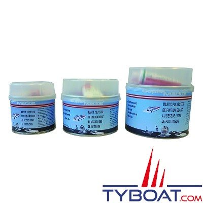 Super marine - Mastic polyester - 1,8 kg - Blanc