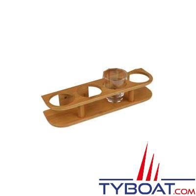 Bamboo Marine - Support 4 verres - Ø maxi 77 mm