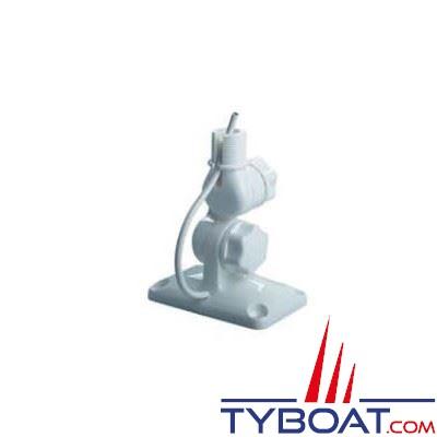 Glomex - Support antenne RA135 nylon blanc molette filetage 1