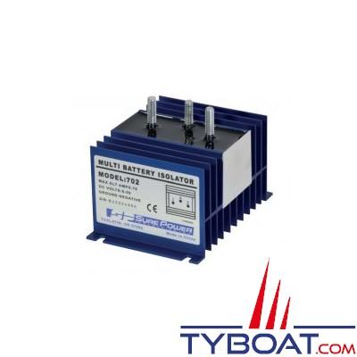 SURE POWER - Répartiteur de charge - 1 entrée 2 sorties - 70 Ampères - Sans borne de référence