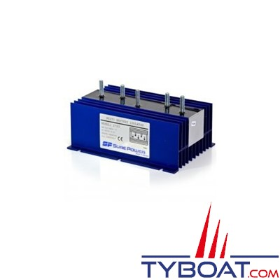 SURE POWER - Répartiteur de charge - 2 entrées 3 sorties - 120 Ampères - Sans borne de référence