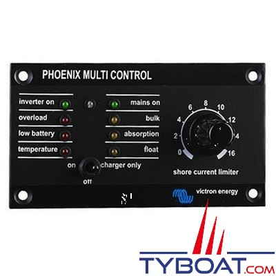 VICTRON ENERGY - Tableau de contrôle pour chargeurs Phoenix.
