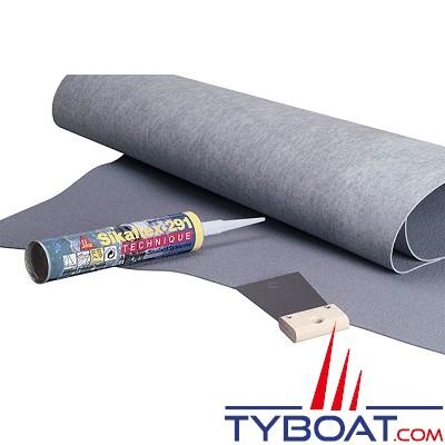 PASSAGE - Plaque antidérapant à coller - Largeur 0.90 m - Longueur 1.28 m - Epaisseur 2.1 mm -  Gris Perle