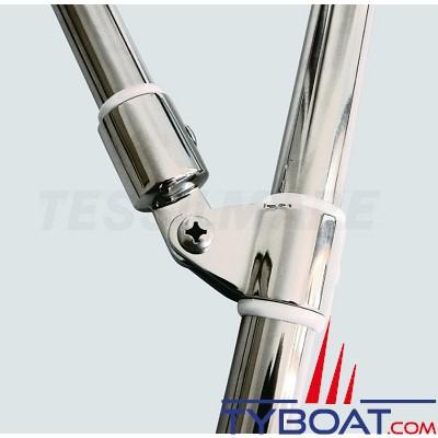 Tessilmare - Bimini inox triple arceaux - Ø 22 mm - Largeur 245 cm - Longueur 232 cm - Démontable