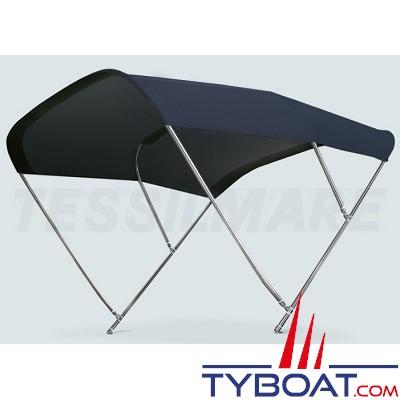 Tessilmare - Tissu pour capote Bimini - Bleu navy - Imperméable - 100 % polyester - Largeur 170 cm