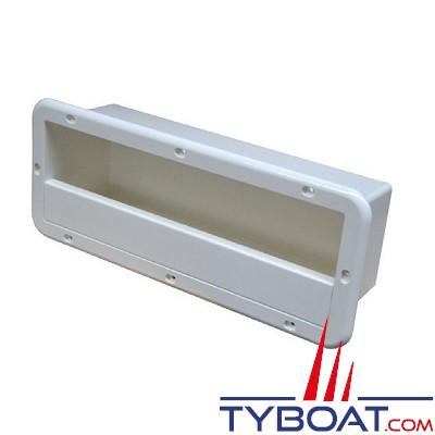 Coffre de rangement - PVC blanc - 395 X 155 X 105 mm - A encastrer