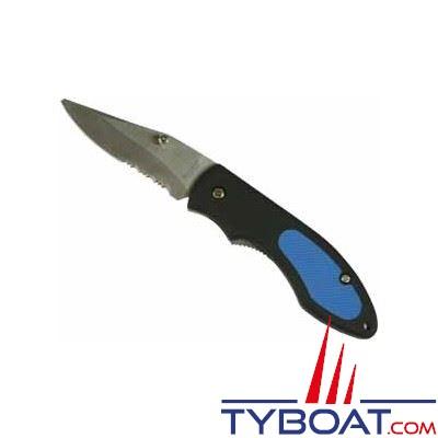 Topomarine - Couteau marin bi-matière - Lame inox 8 cm