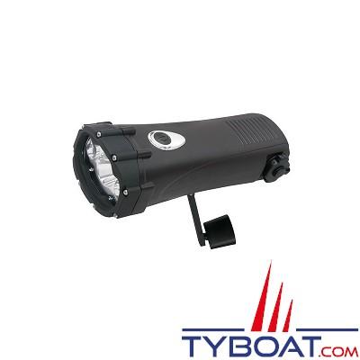 Topomarine - Lampe dynamo - 1 Watt + 2 LED - Etanche