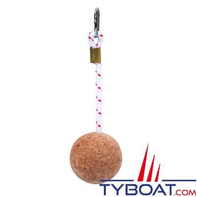 TOPOMARINE - Porte clef - 1 boule en liège - Diamètre 52 mm