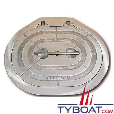 Trappe d'accès Freeman ovale aluminium 12