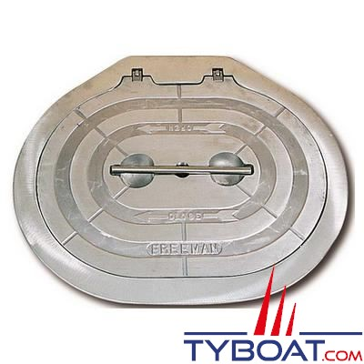 Trappe d'accès Freeman ovale aluminium 15