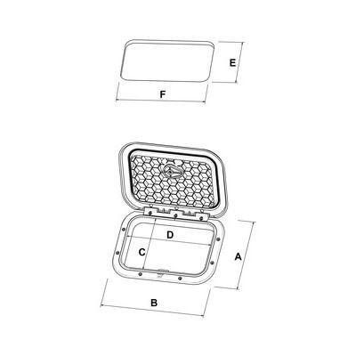 Trappe d'accès Plastimo 357 x 606 mm - NOIRE
