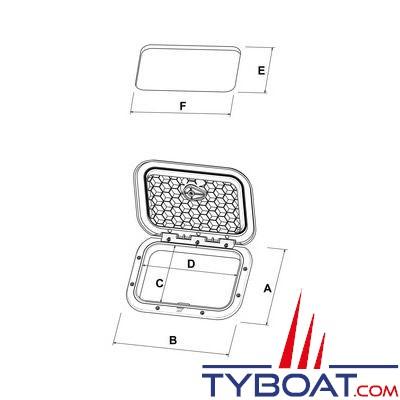 Trappe d 39 acc s et de rangement plastimo 459 x 514 mm - Point p trappes ...