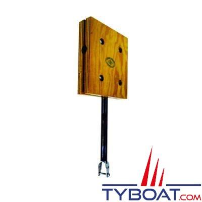 TREM - Support moteur balcon en bois pour hors-bord  - 210 x 260 mm pour tube Ø 22-25 mm