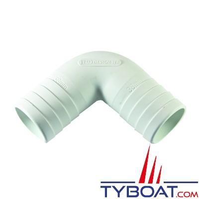 Trudesign - Coude composite - 90° - Cannelé - Ø 25 mm