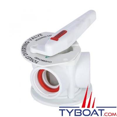 TRUDESIGN - Vanne « Aquavalve » 3 voies manuelle en nylon blanc