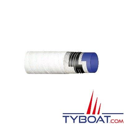 THOR - Tuyau souple pour WC - Blanc - Renforcé spirale métallique - 1 mètre