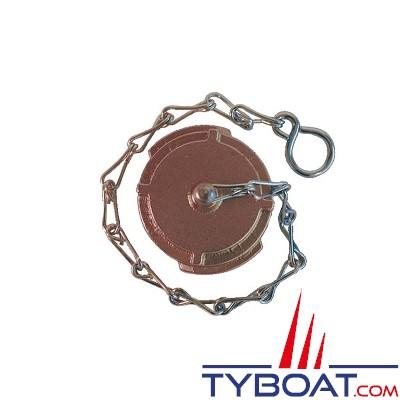 TYBOAT - Bouchon demi-raccord pompier - Avec verrou et chaînette - Lutte Incendie - DN 20