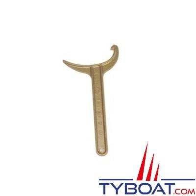 TYBOAT - Clef tricoise en laiton pour tuyau de 20 à 65 millimètres