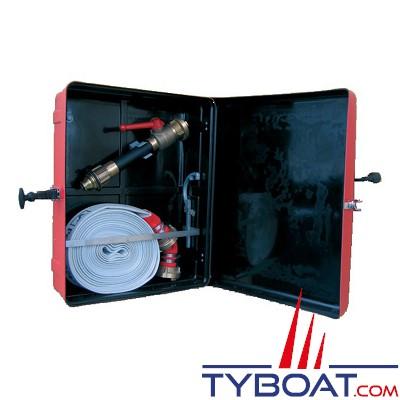 TYBOAT - Coffret de rangement rouge pour tuyau incendie - Plastique renforcé