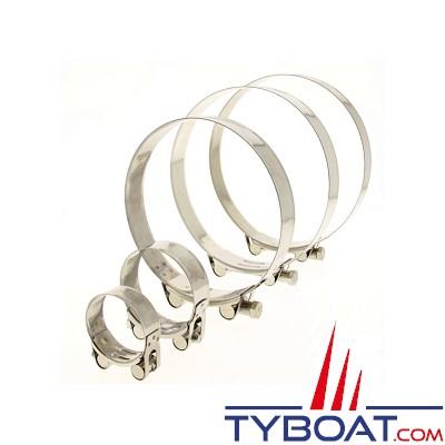 TYBOAT - Collier de serrage à tourillon INOX304 - CTM56/59 (X2)