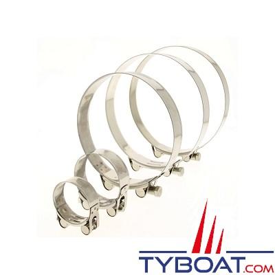 TYBOAT - Colliers de serrage à tourillon INOX304 - CTM79/85 (X2)