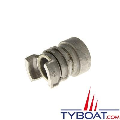 TYBOAT - Demi-raccord pompier avec verrou - DN 40 - Femelle - diamètre 3 pouces - Aluminium