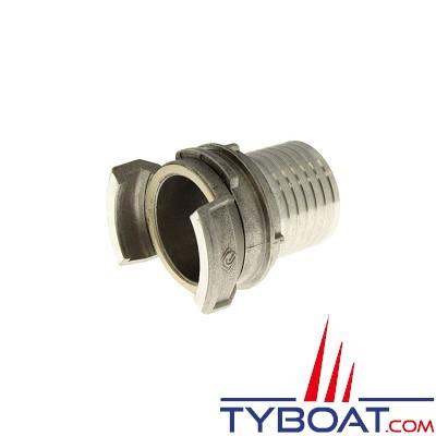 TYBOAT - Demi-raccord pompier avec verrou - DN 65 - Femelle - diamètre 3 pouces - Aluminium - Douille annelée