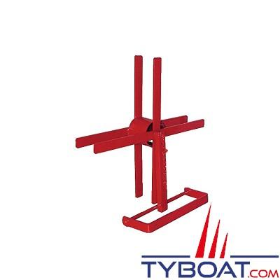 TYBOAT - Dévidoir à croisillons pour tuyau incendie - Acier - Capacité 30 mètres